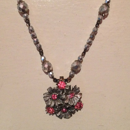 Hot Pink & Silver Necklace