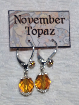 November Birthstone Earring