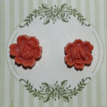 Coral Flower Earring