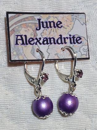 June Birthstone Earring