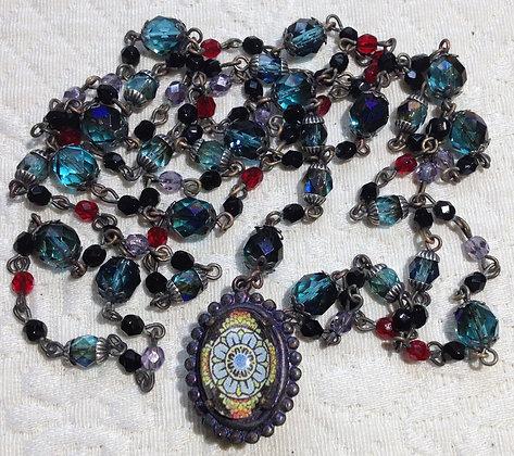 Mala Necklace Mandala/Om Sign