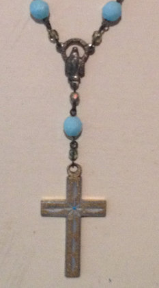 Vintage Cross Prayer Beads