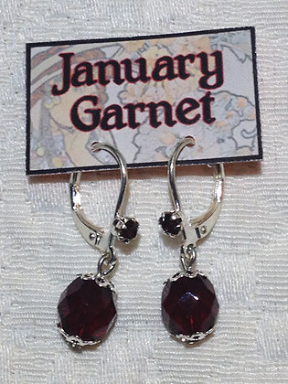 January Birthstone Earring