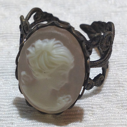 Soft Pink Cameo Ring