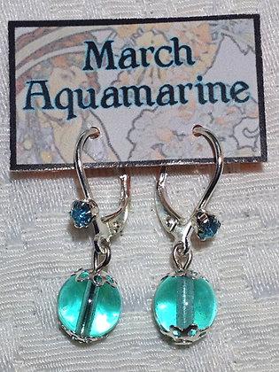 March Birthstone Earring