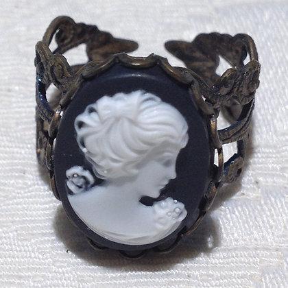 Black Cameo Ring