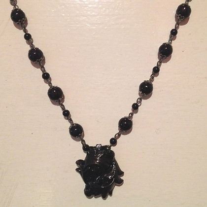 Black Curly  Necklace