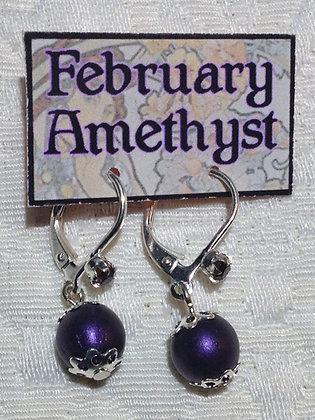 February Birthstone Earring