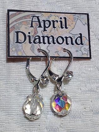 April Birthstone Earring