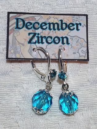 December Birthstone Earring