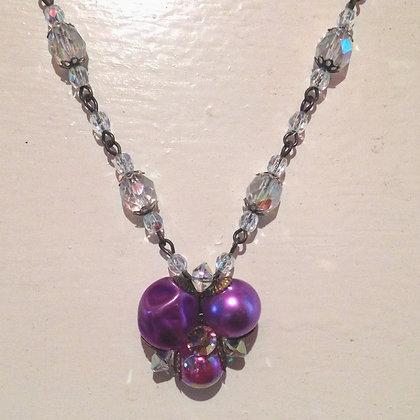 Purple & Crystal Necklace