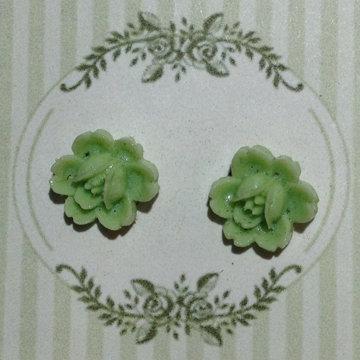 Lime Flower Earring