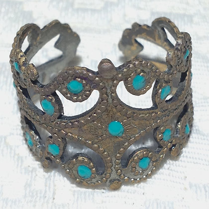 Turquoise Small Cigar Band Ring