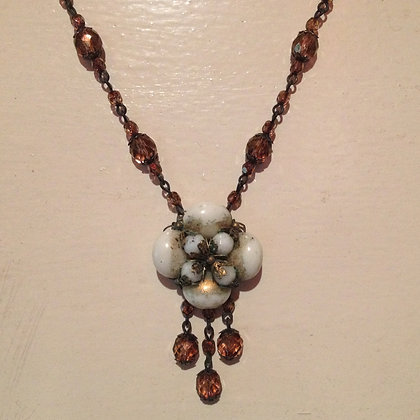 Bronze Drop Necklace