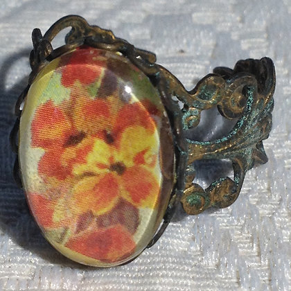 Orange Flowers Ring