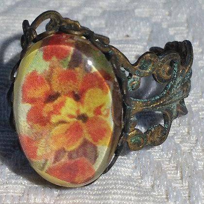 Orange Flowers Ring