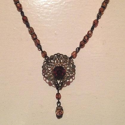Brass Filigree Necklace
