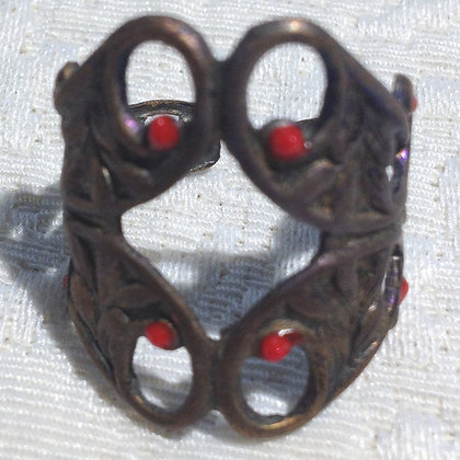Ruby Red Large Cigar Band Ring