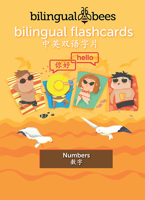 Bilingual English Mandarin Flashcards - Numbers