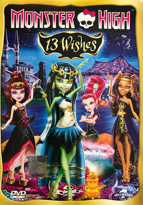 DVD: Monster High 13 Wishes (Cantonese)