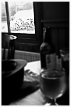 Bottle&Glass Harby with Bicycles
