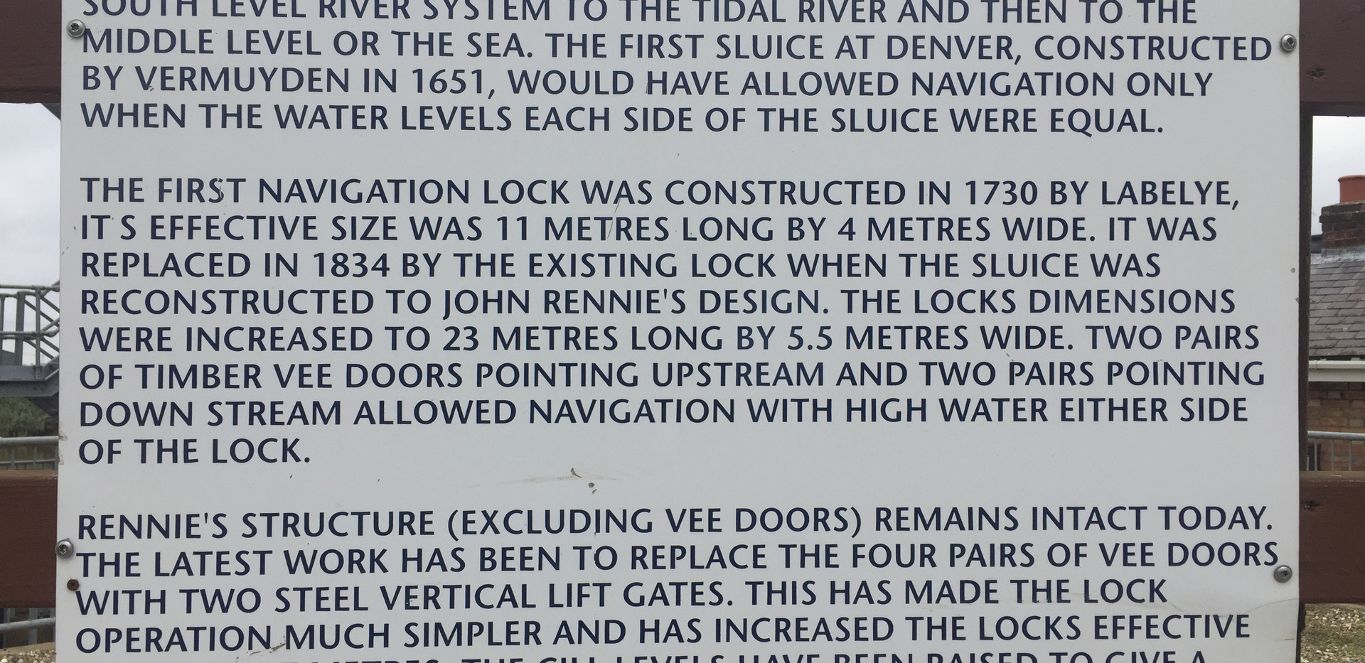 Denver Sluice Complex Interpretation Boa
