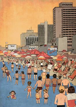 Tel Aviv Beach in the 80s