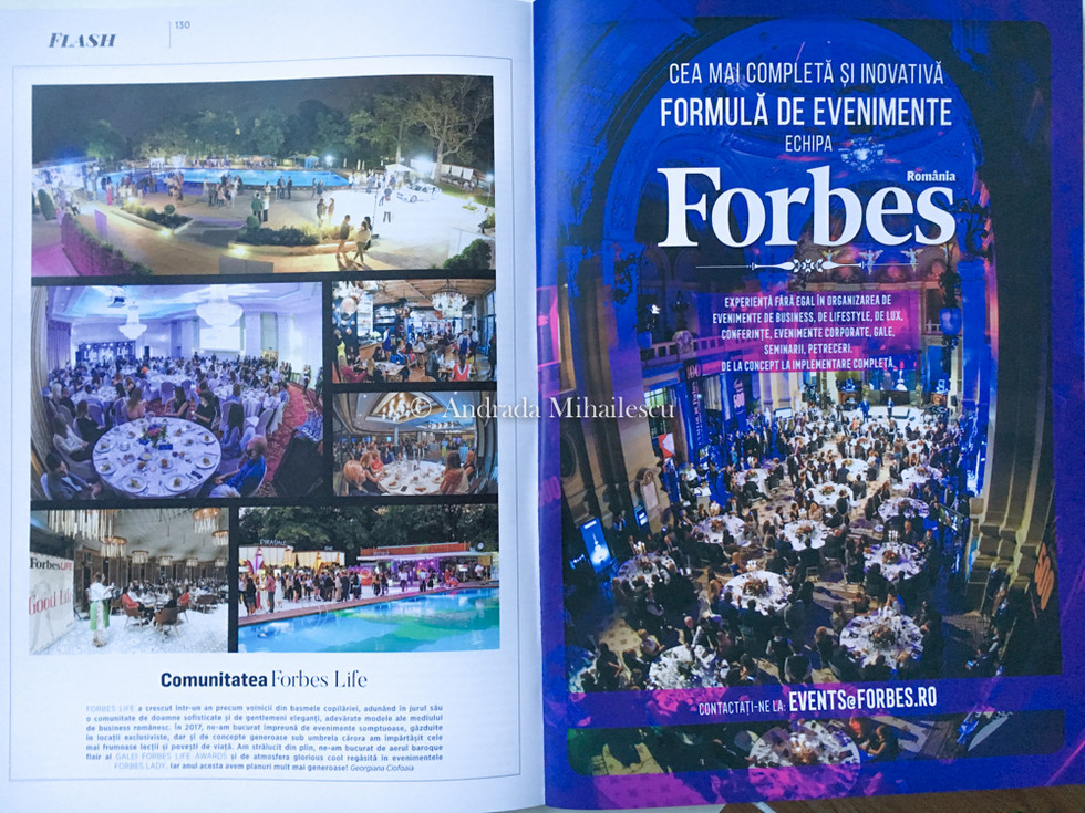 Published photos in Forbes Romania.