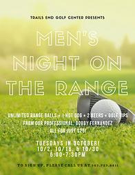 Men's Night on the Range 10.2, 10.16, 10