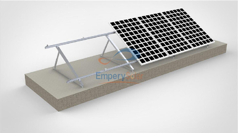 Flat roof mounting system