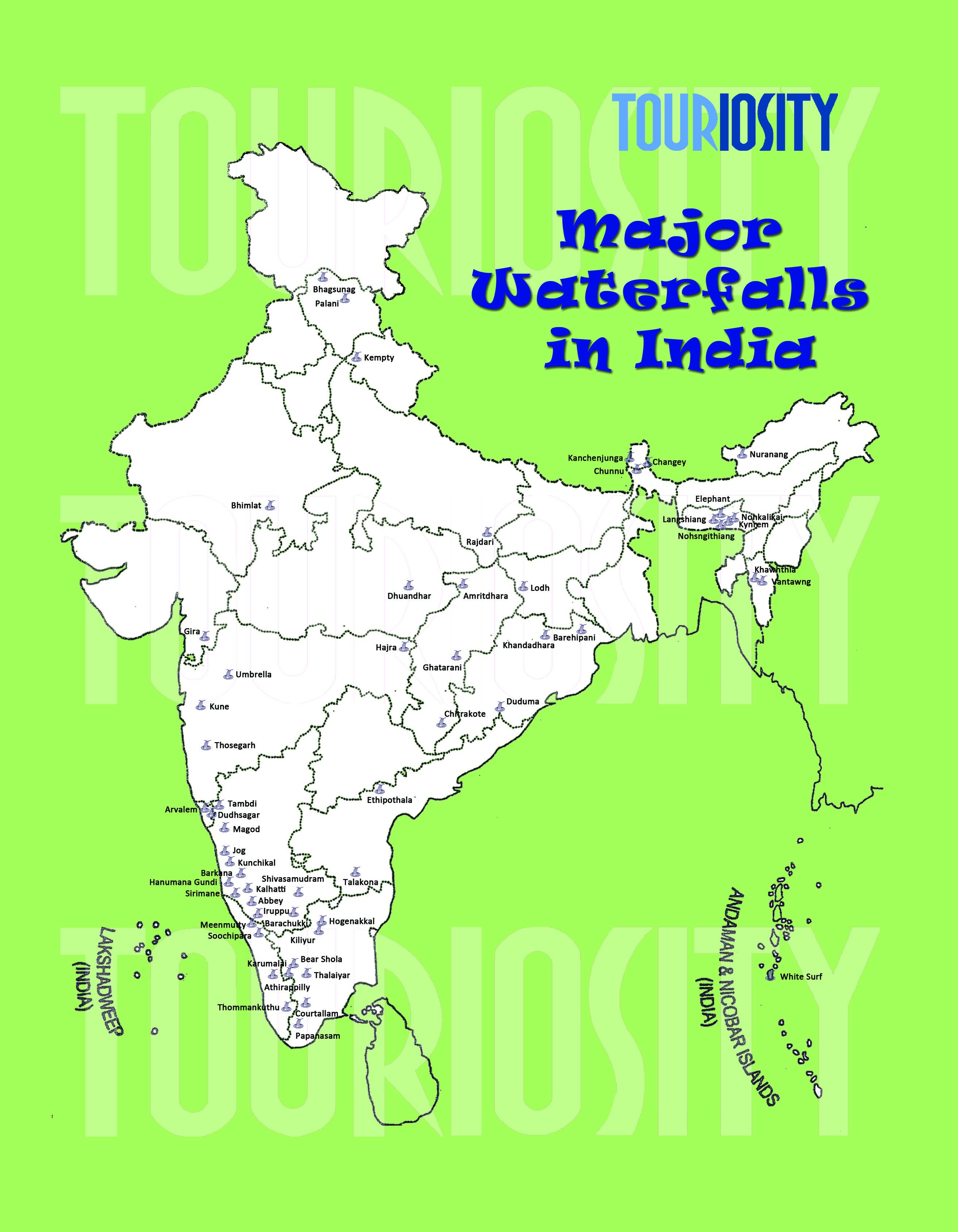 Major Waterfalls of India