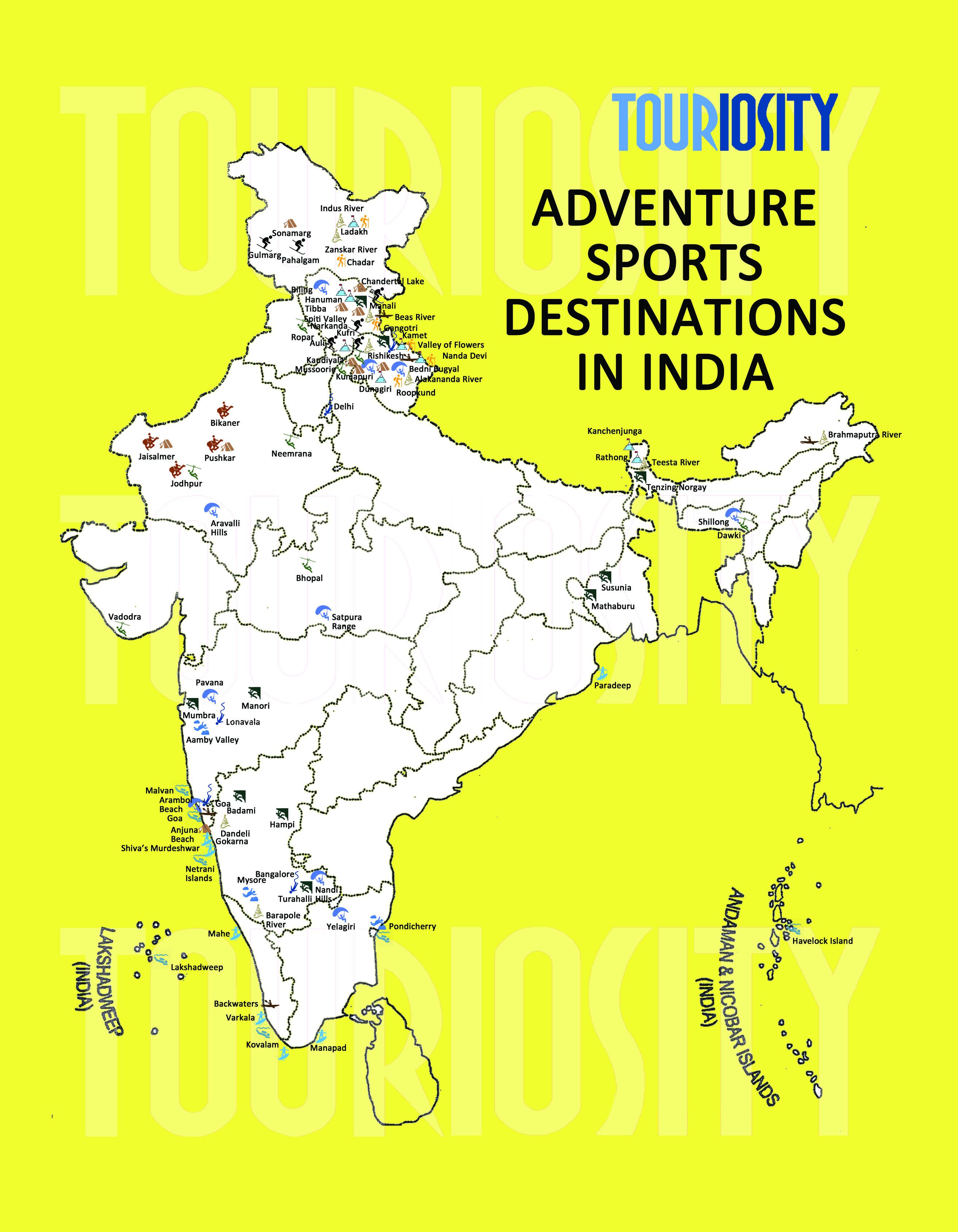 Best Adventure Sports Destinations in In