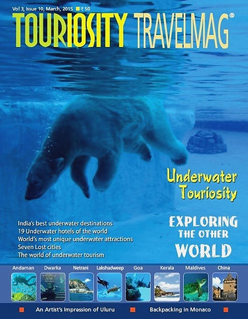 The underwater world is a mystical one that provokes curiosity, awe and wonder. With the interest for underwater tourism growing amongst travellers and adventure aficionados globally, Touriosity has struck the right chord by bringing for its readers this issue themed on the wonders inside the sea. Get to know about all the 'must visit' attractions and stay options underwater and plan your next vacation accordingly. March 2015 issue  also helps you know in detail about all the underwater activities one can engage in.