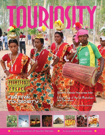 Festivals are time not only for locals to enjoy dance, music and cuisine, but also for Tourism Departments to showcase the tourist attractions of the place with a view to attracting more and more people from around the world. This unique Festival Issue of Touriosity Travelmag brings to our readers colourful snippets from some of the must see festivals from across India as well as glimpses and necessary information from the most popular festivals across the globe.