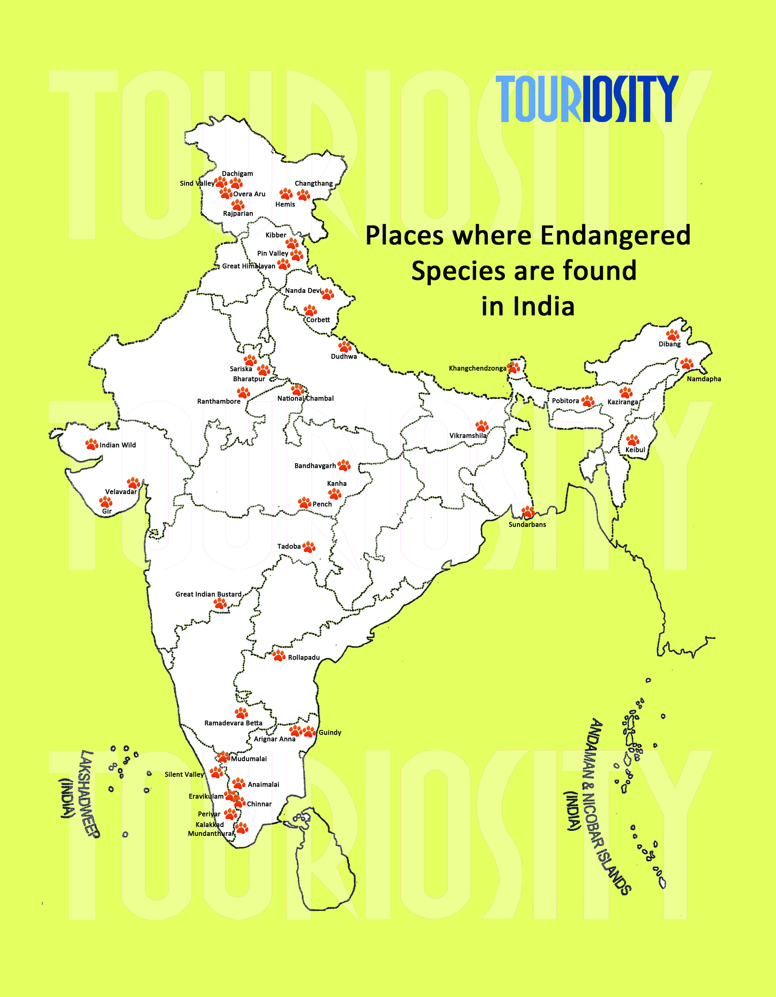 Places to spot endangered species in Ind
