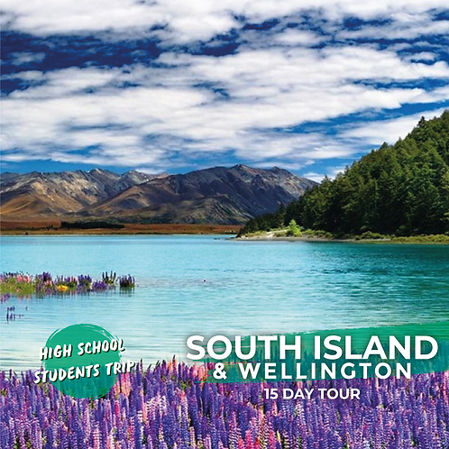 19th December to 2nd January | South Island & Wellington (15-Day Trip)