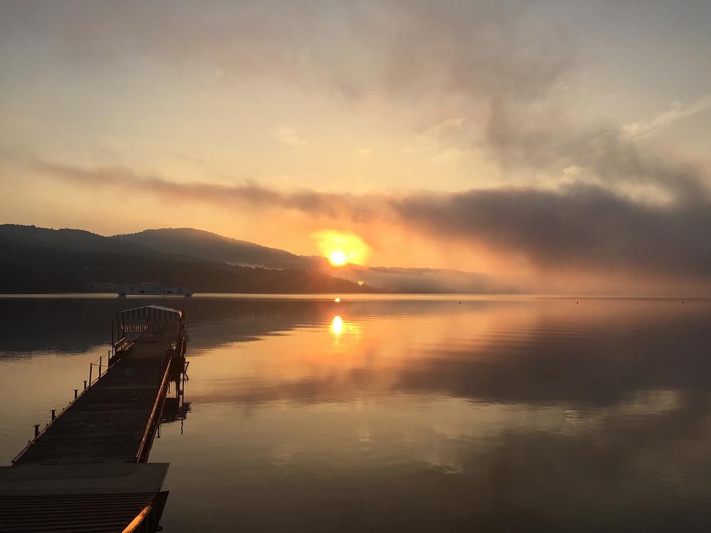 The Sunrise over Lake Yamanakako