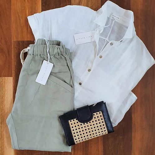 Little Lies White Linen Shirt