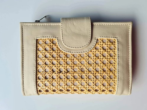 Leather/Rattan Clutch