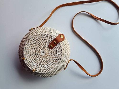 Rattan Round Dome Bag