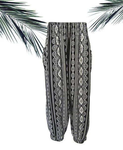 Women Resort Wear Lifestyle Pants 2020 - JUNE10 Border Black/White NR
