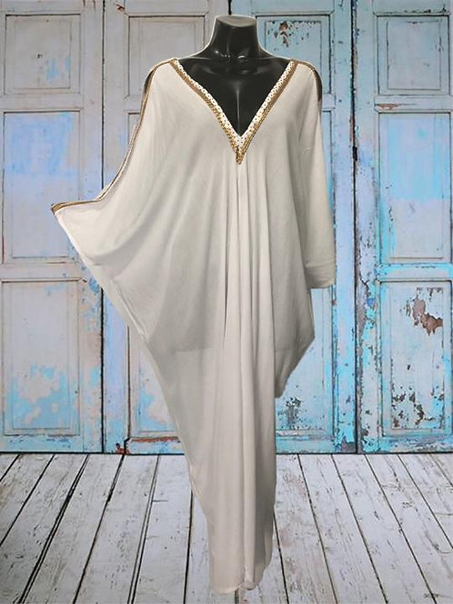 AY04 SOGOS L - White - Rayon Voile