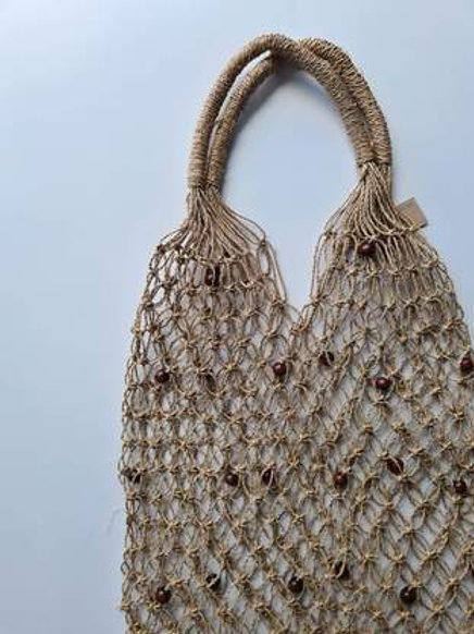 Seagrass Beaded Woven Tote
