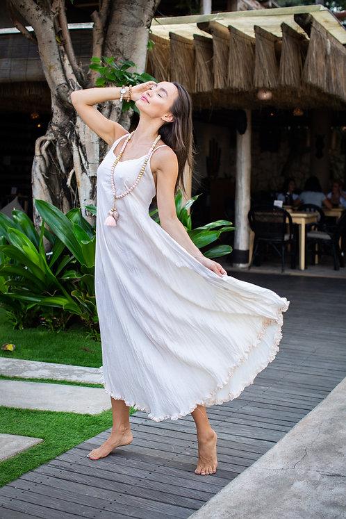 GRACE DRESS - Plain Creme - Rayon