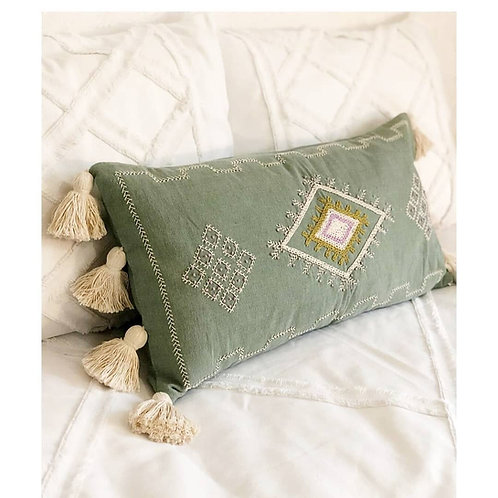 Aztec Green Cushion