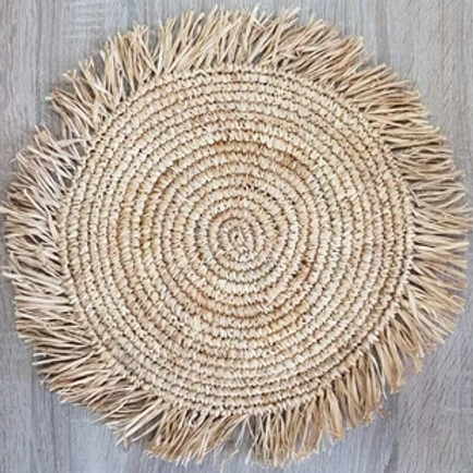Seagrass Placemats with Fringe