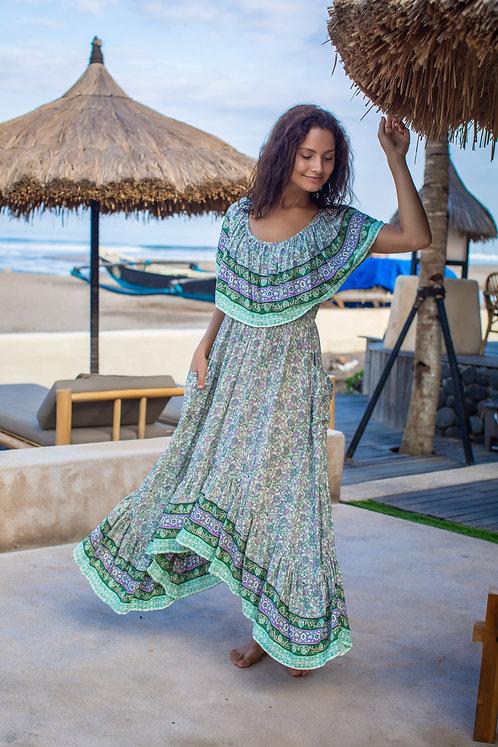 Women Resort Wear Clothing 2020 - D41063B Green Print