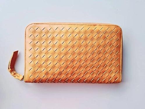 Criss Cross Leather Wallet