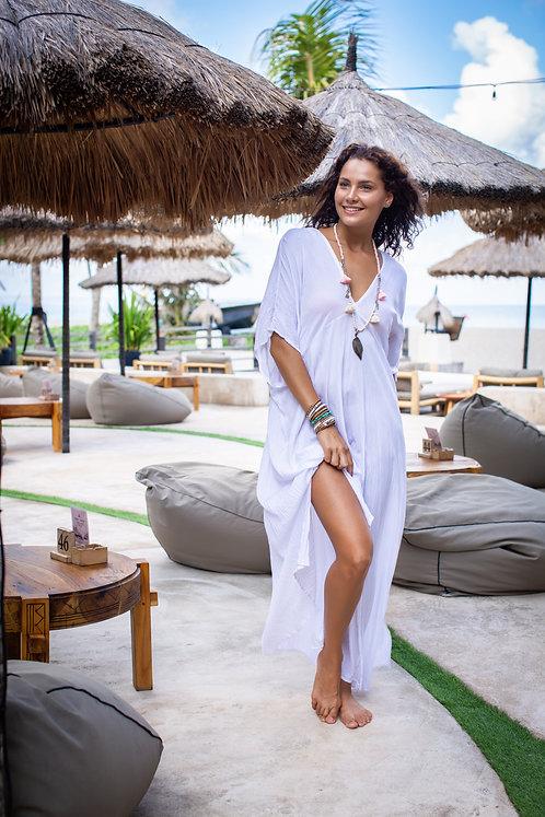 Women Resort Wear Clothing Plus Size 2020 - D4721 LONG White