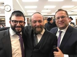 With Yehuda Green and Shloimy Dachs
